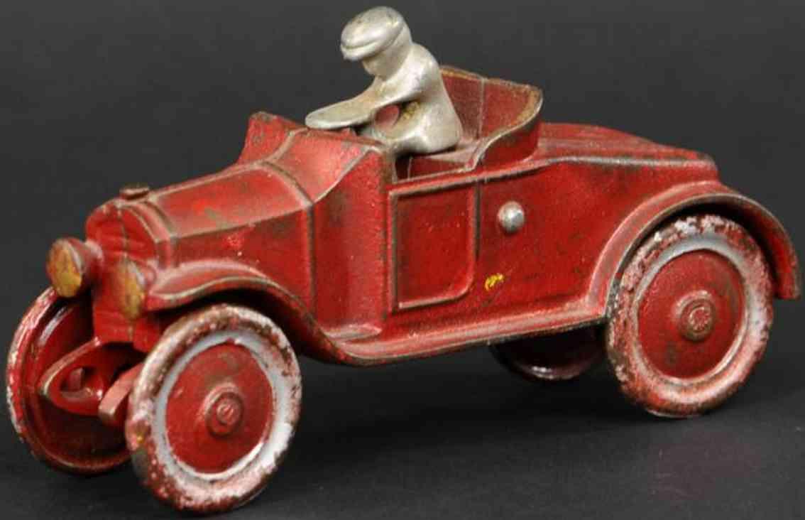 kenton hardware co spielzeug gusseisen auto offener roadster rot