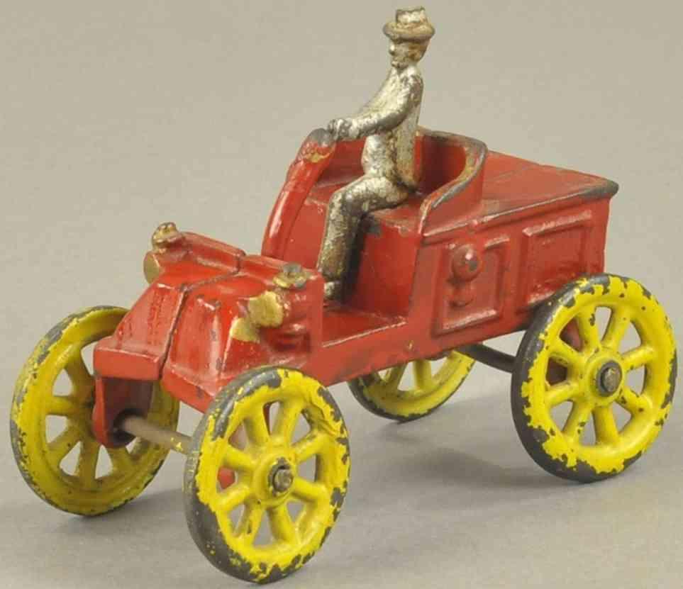 kenton hardware co spielzeug gusseisen auto sportwagen rot farher