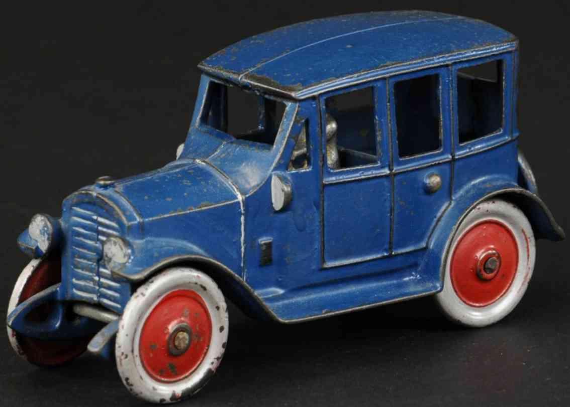 kenton hardware co spielzeug gusseisen auto  blau