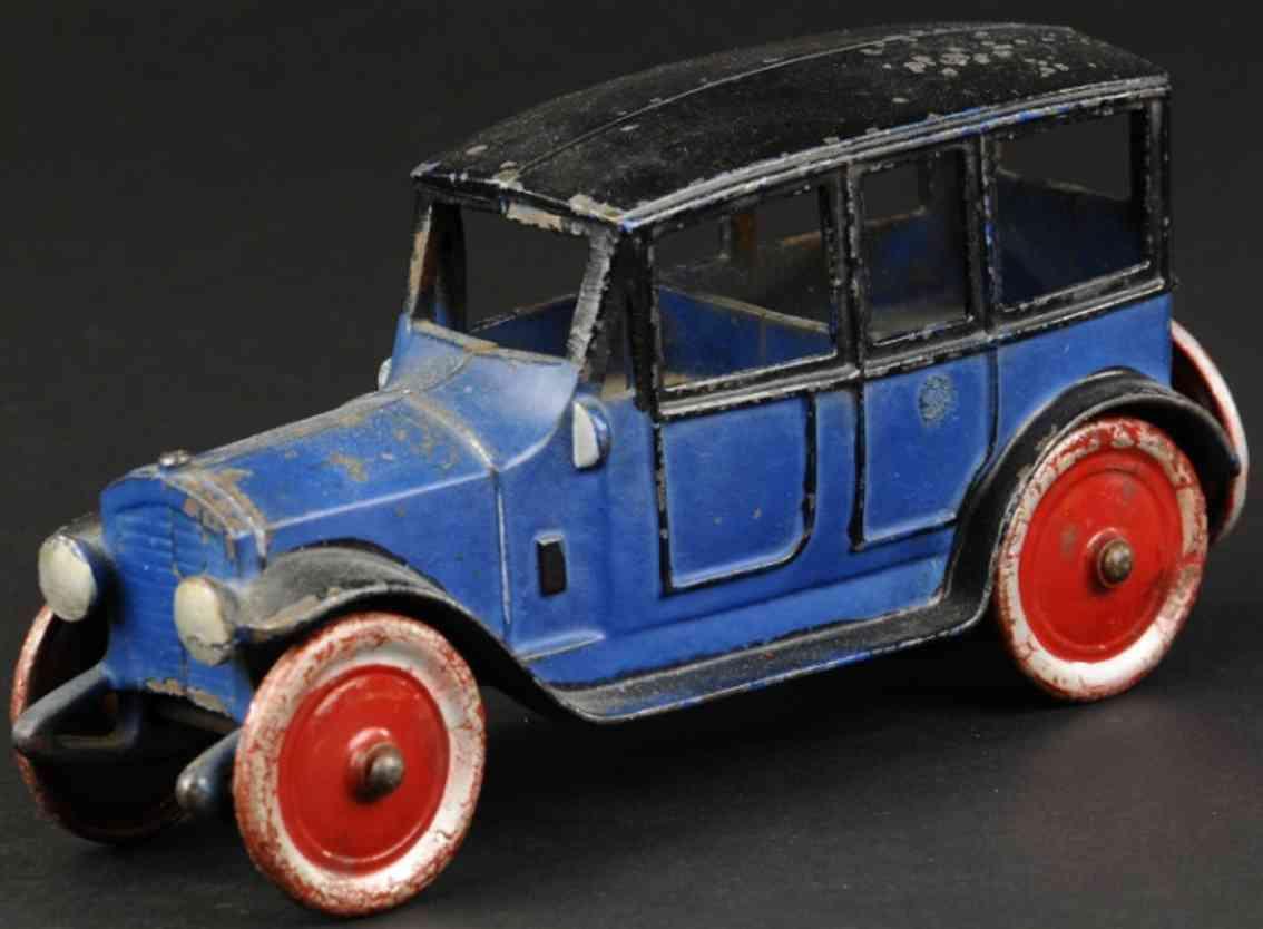 kenton hardware co spielzeug gusseisen auto blau schwarz