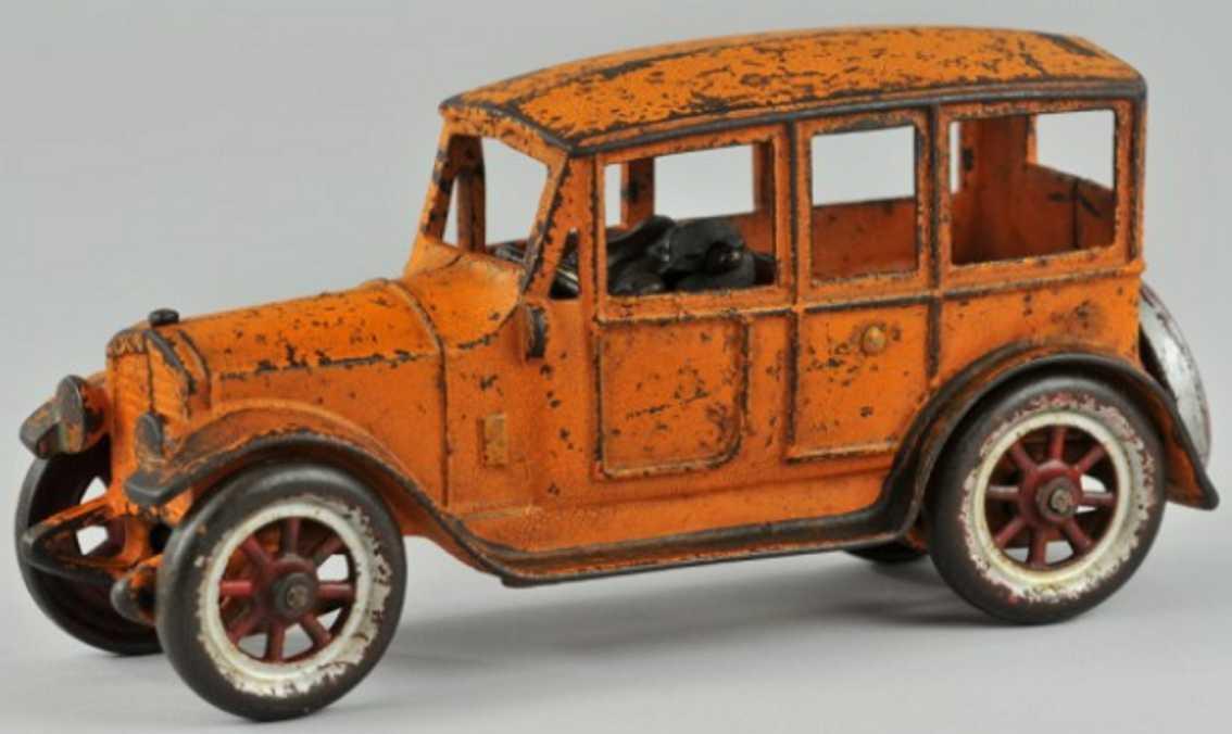 kenton hardware co spielzeug gusseisen auto orange