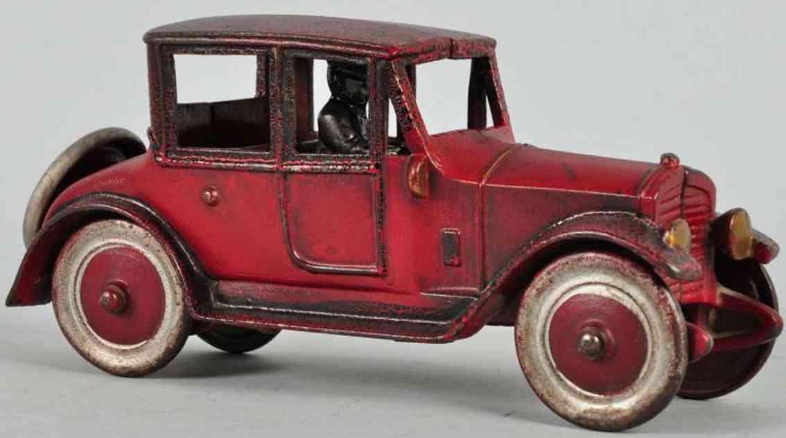 kenton hardware co spielzeug gusseisen auto auto rot fahrer