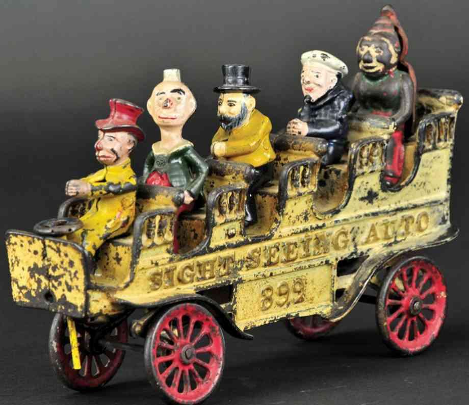 kenton hardware co spielzeug gusseisen rundfahrt-auto komiker