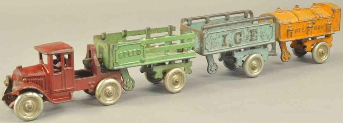 kenton hardware co spielzeug gusseisen lastwagen anhaenger speed ice oil gas