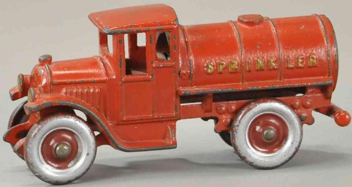 kenton hardware co spielzeug gusseisen sprinklerwagen rot