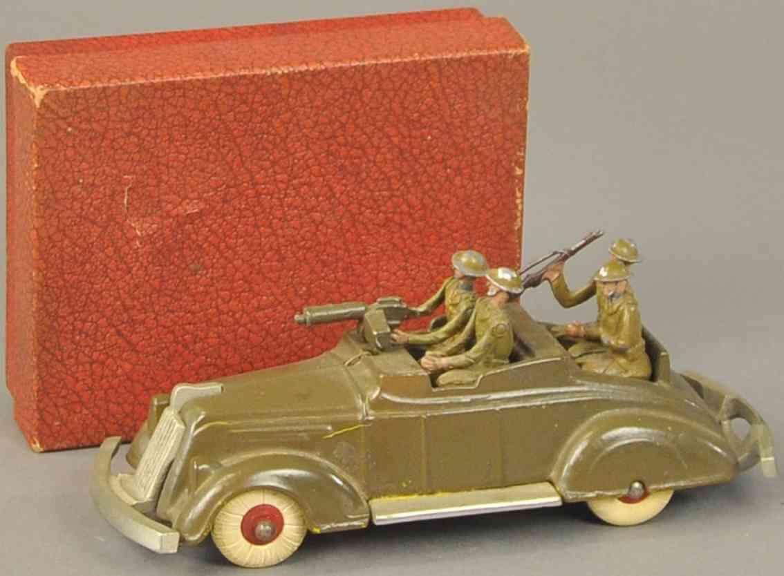 kenton hardware co spielzeug gusseisen dienstwagen vier soldaten gewehr
