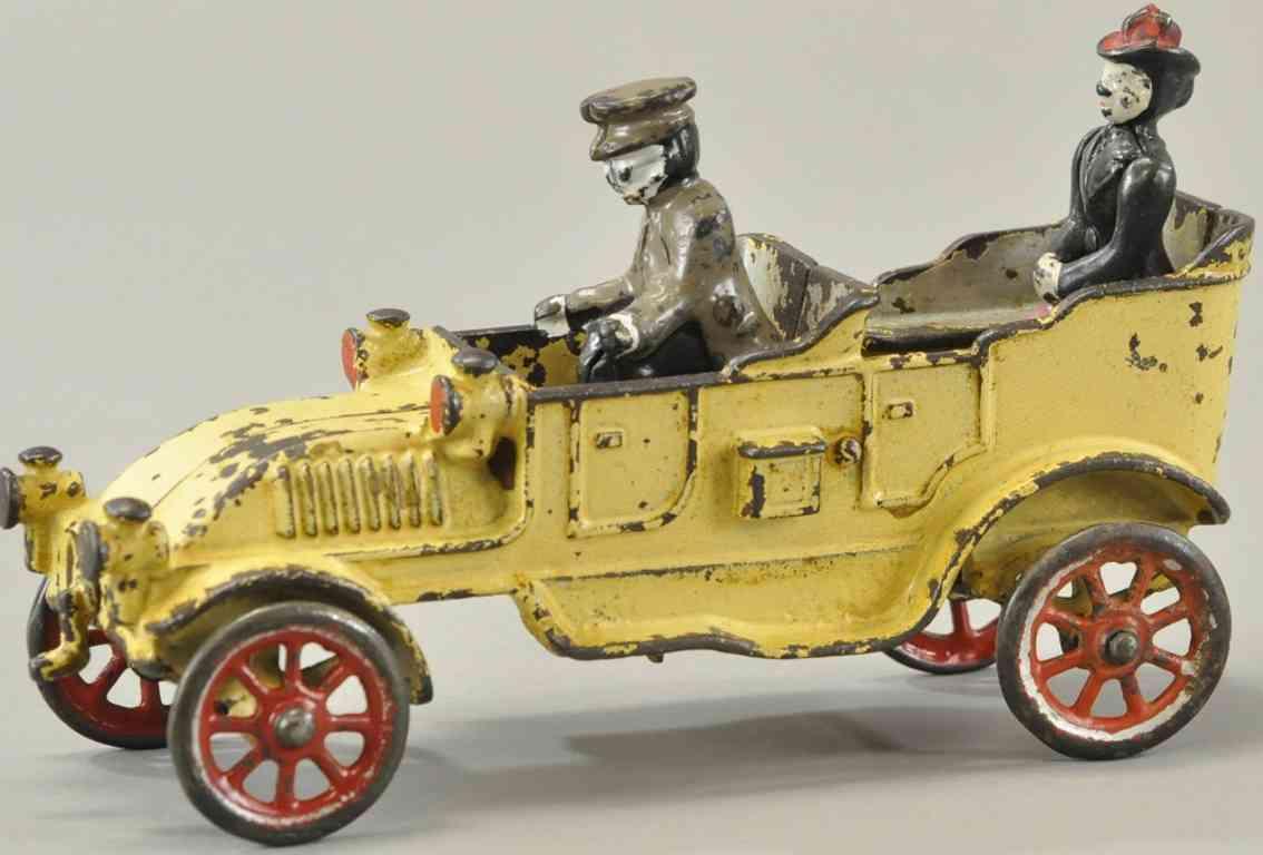 kenton hardware co spielzeug gusseisen offener reisewagen cremefarben