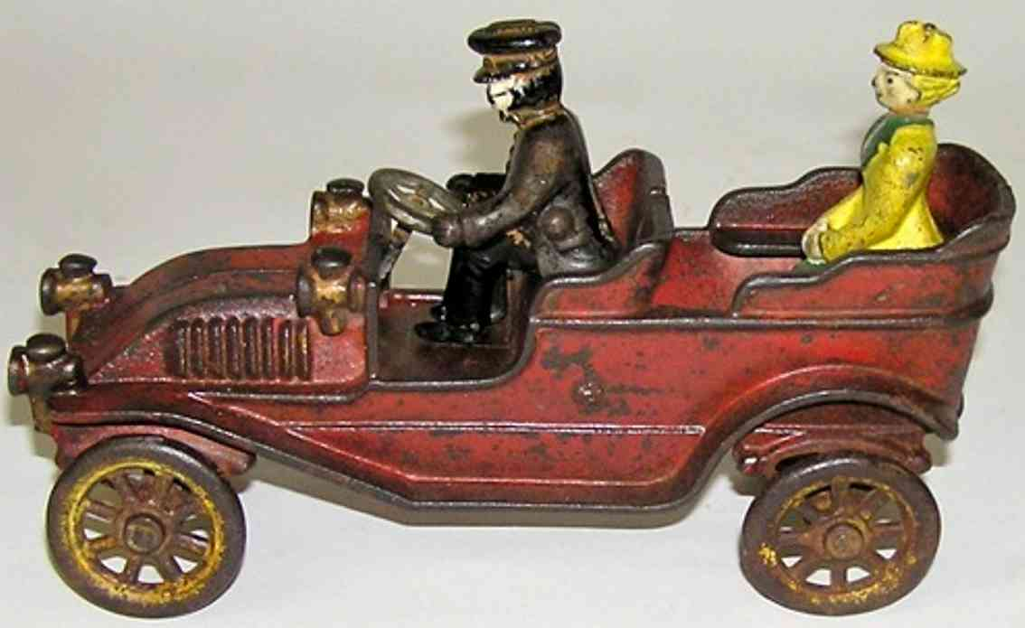 kenton hardware co spielzeug gusseisen auto franklin cabriolet rot