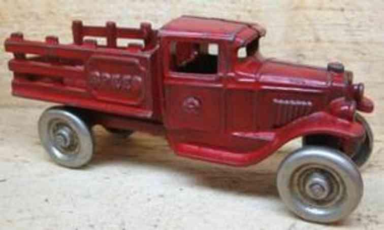 kenton hardware co gusseisen lastwagen in rot