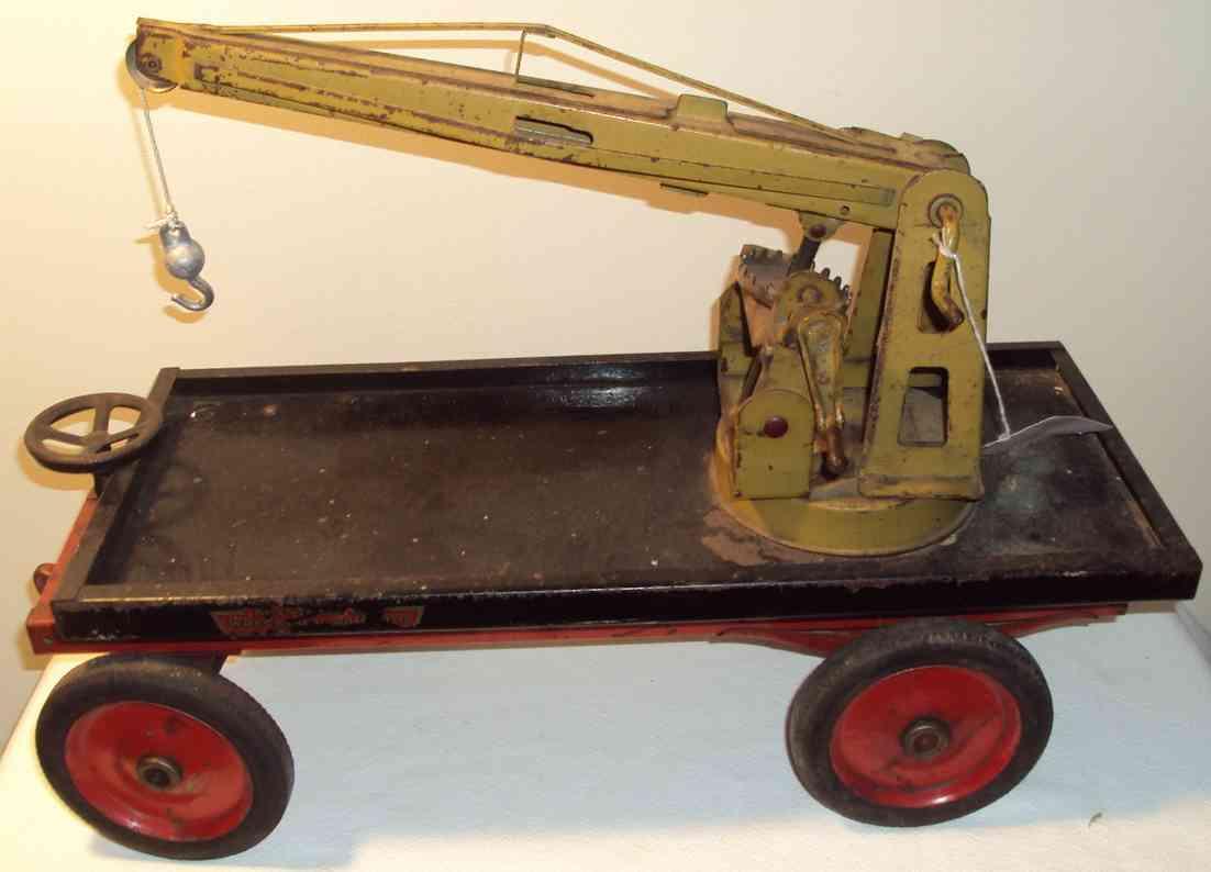keystone 78 blech spielzeug auto eisenbahn-kranwagen, der kranausleger kann rauf und runter b