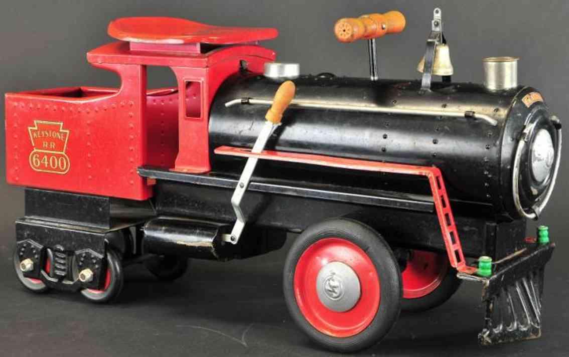 keystone 6400 spielzeug auto ride-em-lokomotive stahlblech