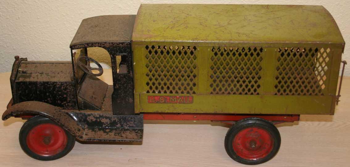 keystone blech spielzeug postlastwagen