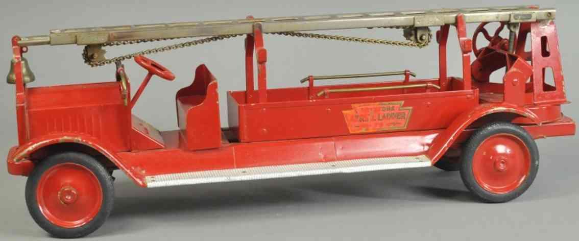 keystone blech spielzeug packard feuerwehrleiterwagen