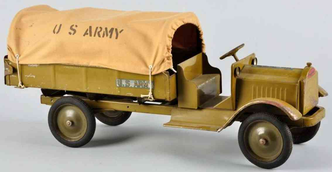 keystone toy army truck pressed steel olive green