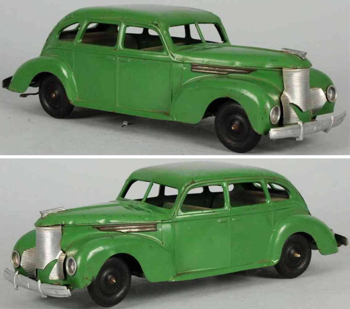 keystone toy car pressed steel automobile green