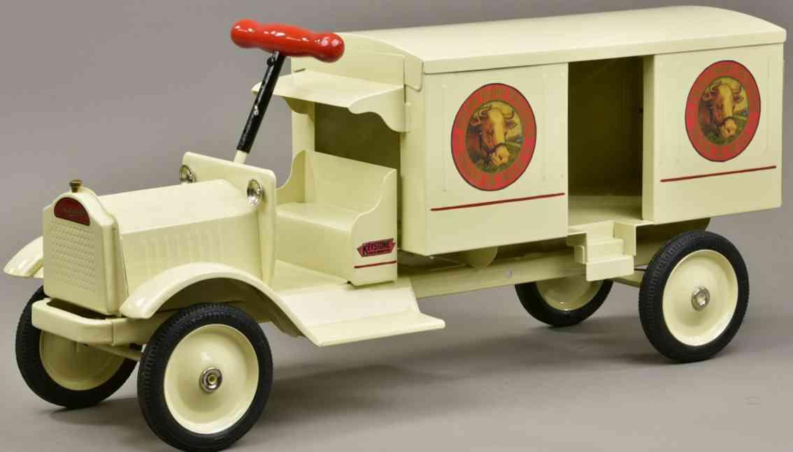 keystone stahlblech spielzeug packard aufsitz lastwagen für molkereiprodukte