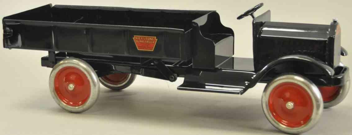 keystone blech spielzeug packard kipplastwagen schwarz stahlraeder