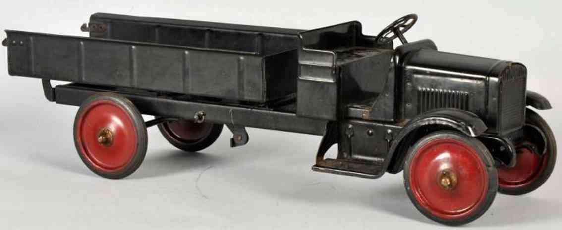 keystone spielzeug kipplastwagen stahlblech schwarz