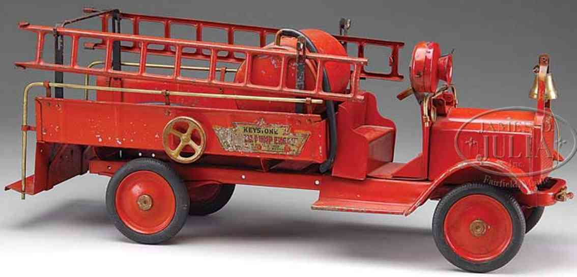 keystone toy truck a pressed steel chemical fire truck