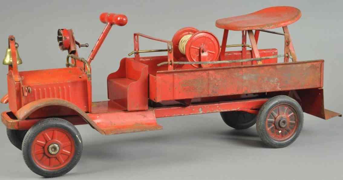 keystone Fire truck 28 blech spielzeug packard feuerwehrwagen als tretauto aus stahlblech, bemalt i