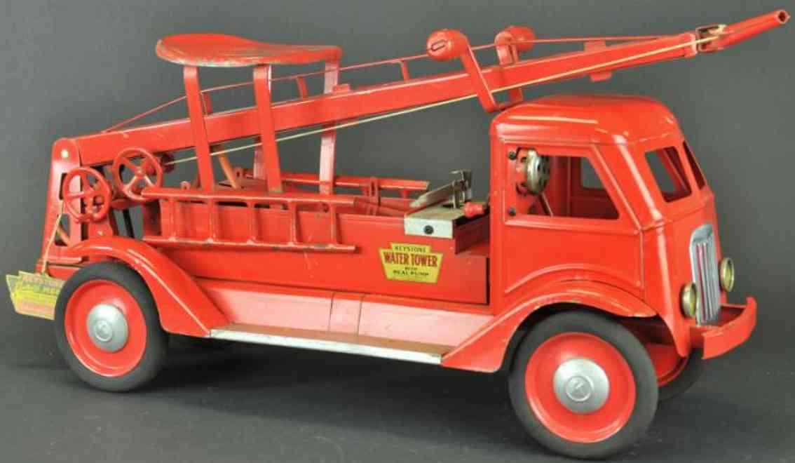 keystone stahblech spielzeug feuerwehrwasserwagen