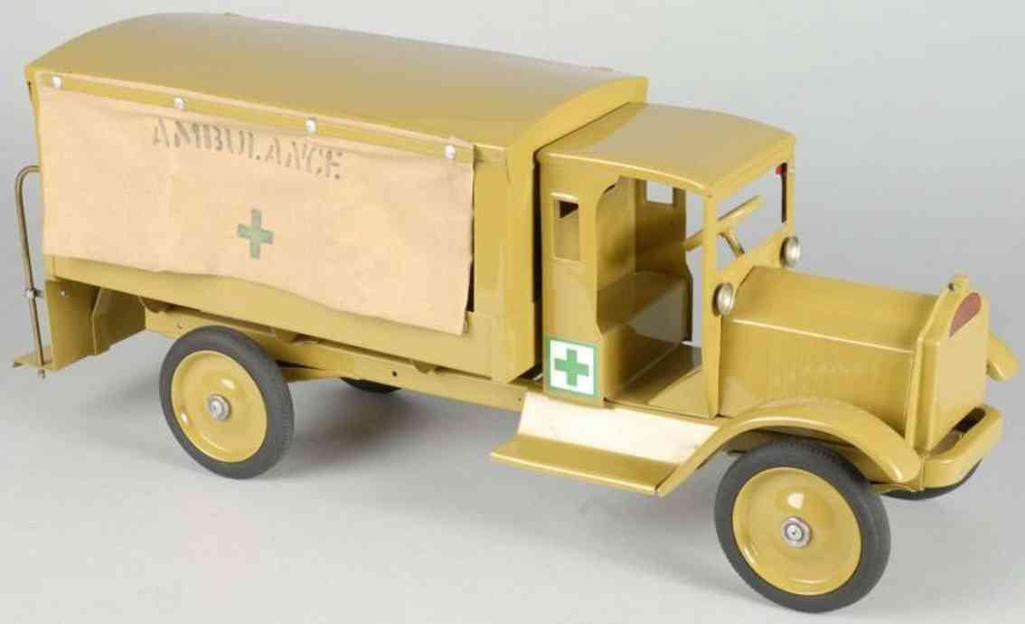 keystone toy pressed steel packard army ambulance
