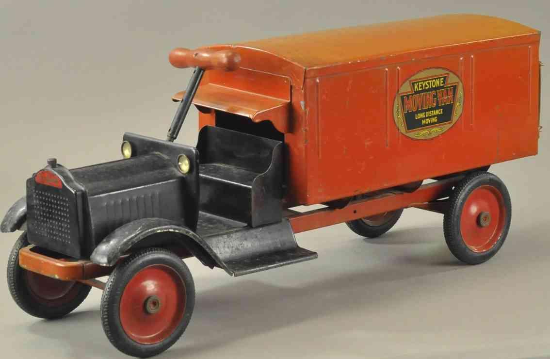 keystone stahlblech spielzeug langstrecken-aufsitz-moebelwagen