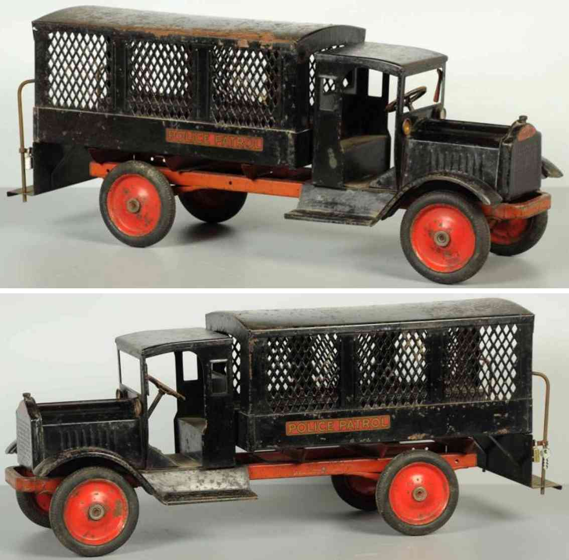 keystone stahlblech spielzeug poilzeistreifenwagen