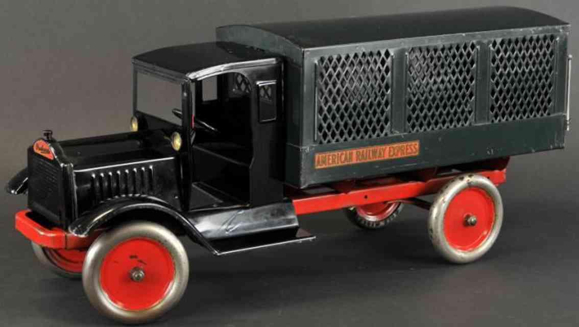 keystone stahlblech spielzeug amerikanischer eisenbahnlastwagen schwarz gruen