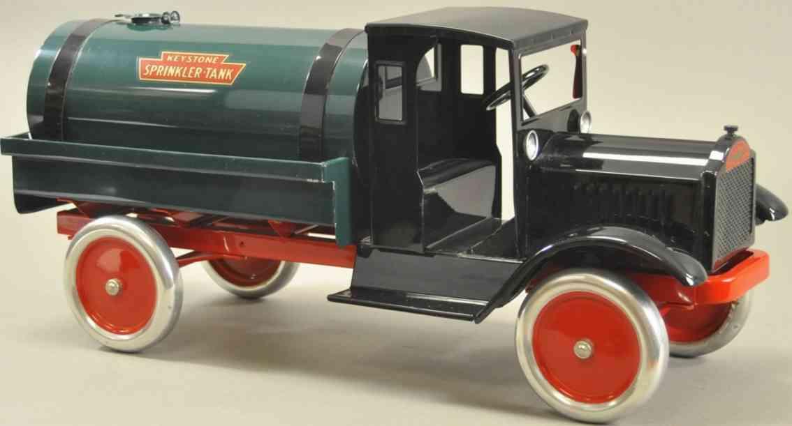 keystone stahlblech spielzeug packard tanklastwagen schwarz gruen