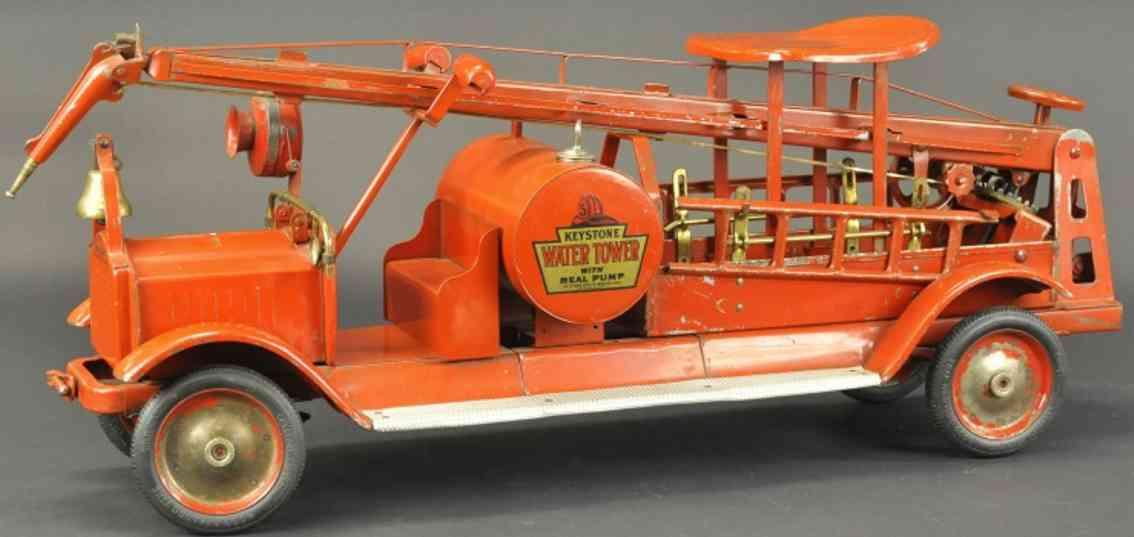 keystone stahlblech spielzeug aufsitz-feuerwehrwagen wasserturm