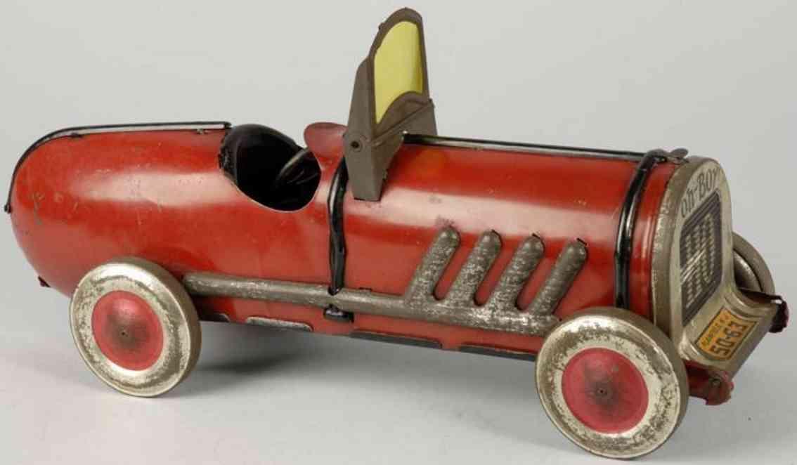 kiddies metal toys 50-63 tin toy oh boy auto race car