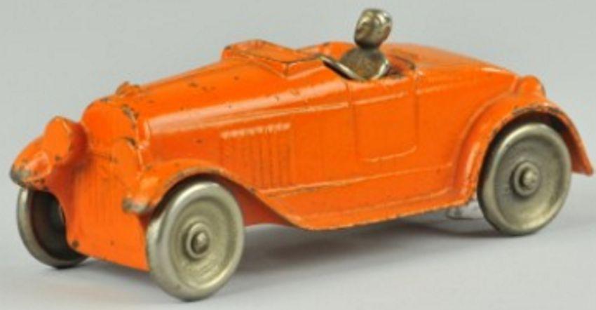 kilgore spielzeug gusseisen auto roadster  orange