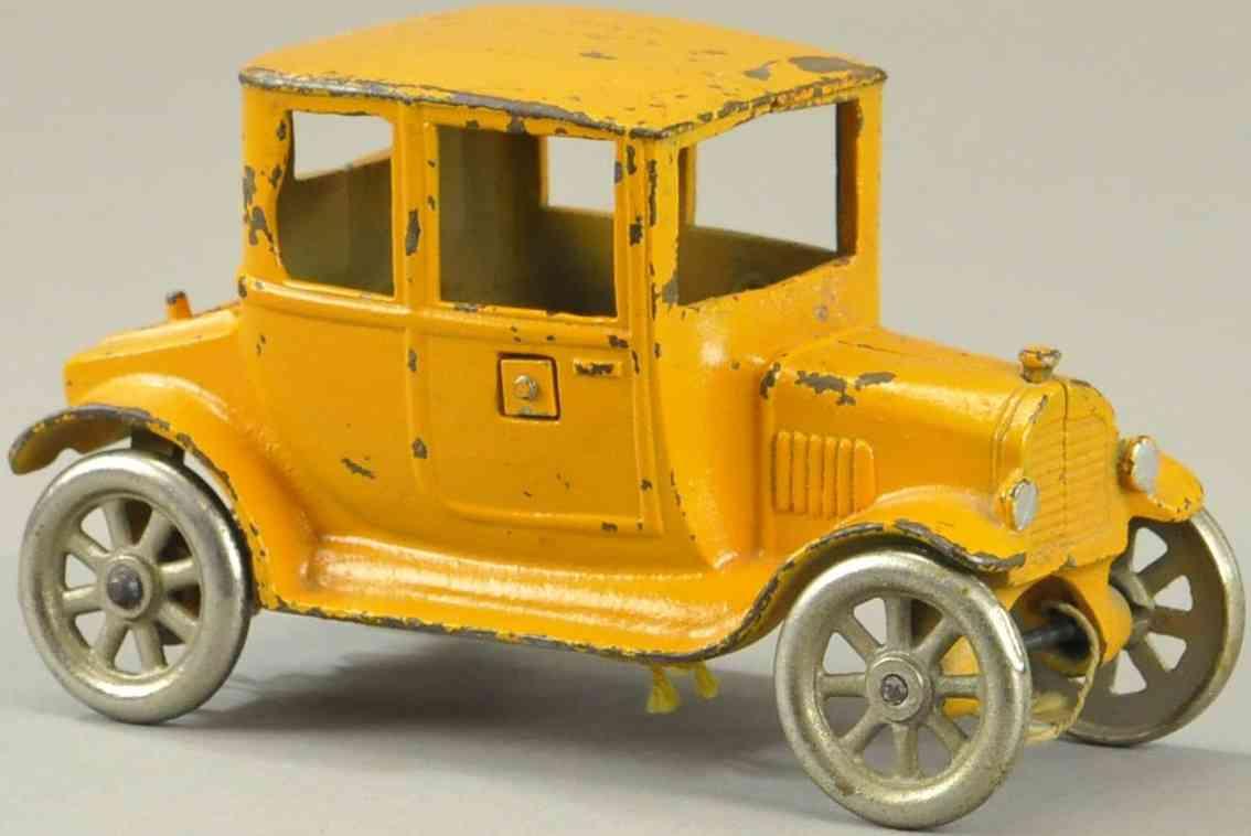 kilgore spielzeug gusseisen auto limousine orange