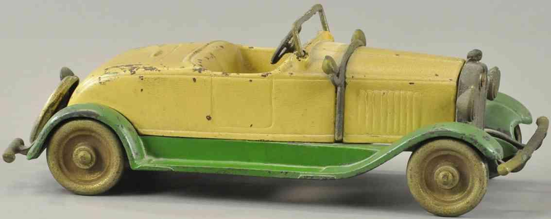 kilgore Stutz 10,25 spielzeug gusseisen auto stutz kabrio creme gruen