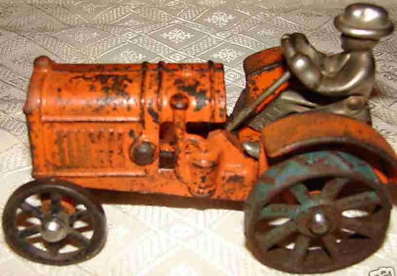 kilgore gusseisen bauernhof-traktor vernickelter fahrer