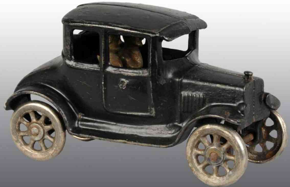 kilgore cast iron toy car coupe automobile black