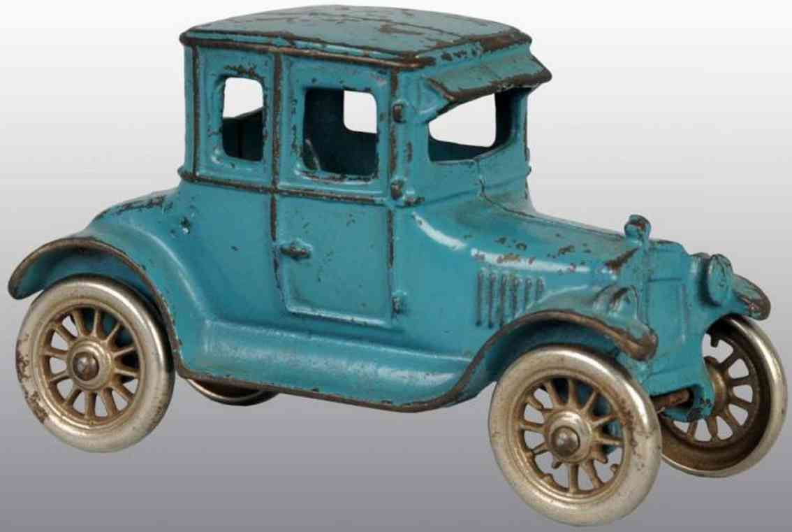 kilgore cast iron toy car coupe blue