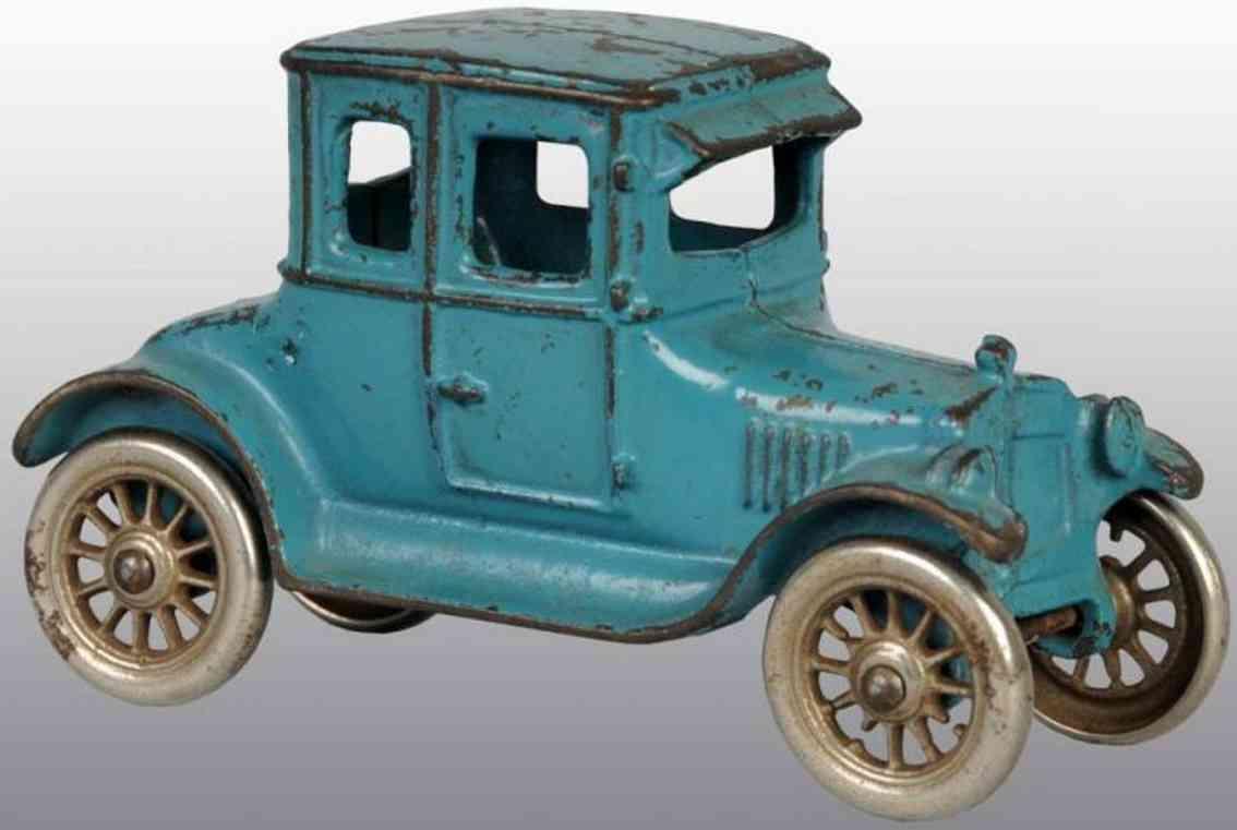 kilgore spielzeug gusseisen auto coupe blau