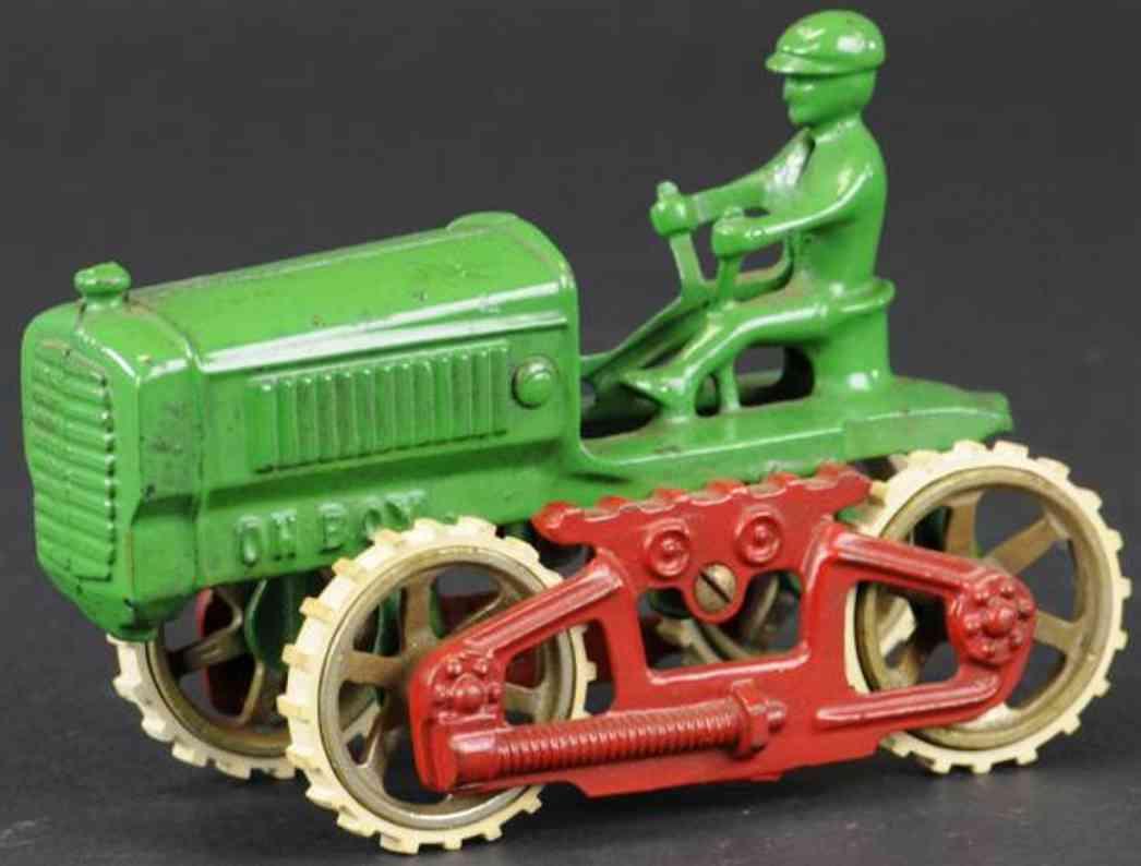 kilgore spielzeug gusseisen traktor oh boy gruen