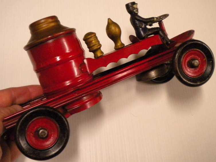 kingsbury toys 24 blech feuerwehrwagen rot