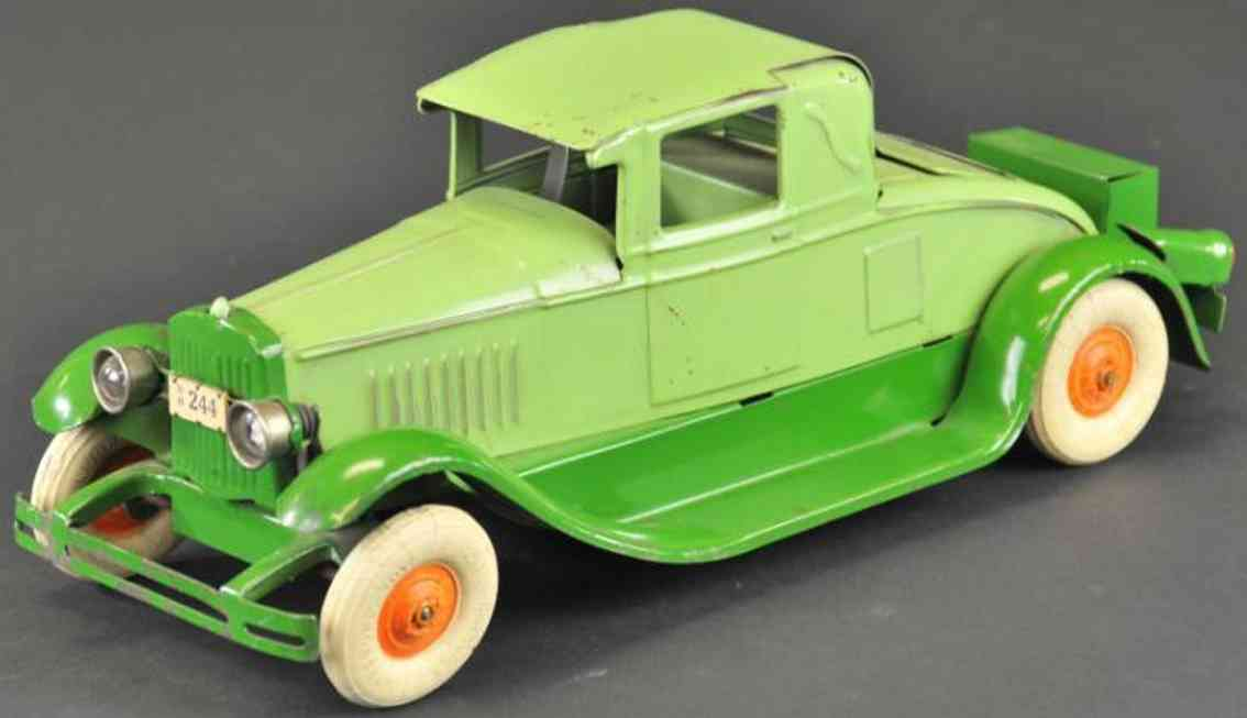 kingsbury toys 244 oldtimer coupe in light and apple green