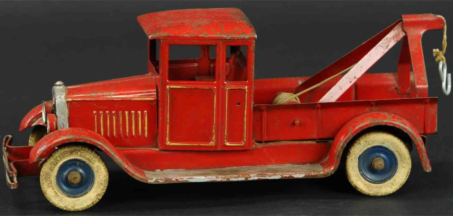 kingsbury toys 348 blech spielzeug abschlappwagen rot