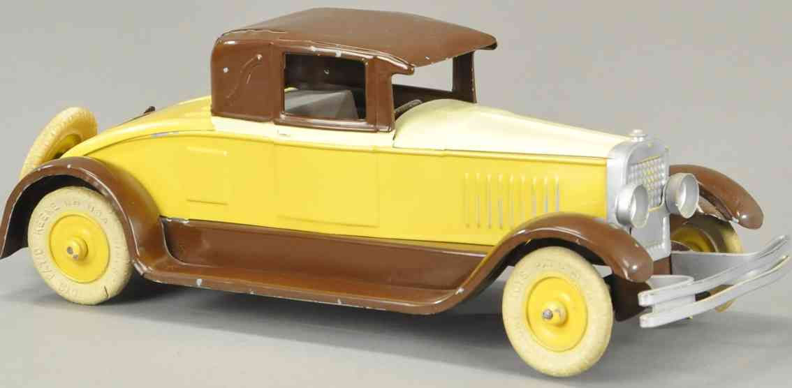 kingsbury toys stahlblech spielzeug auto cabriolet coupe 300er serie creme braun