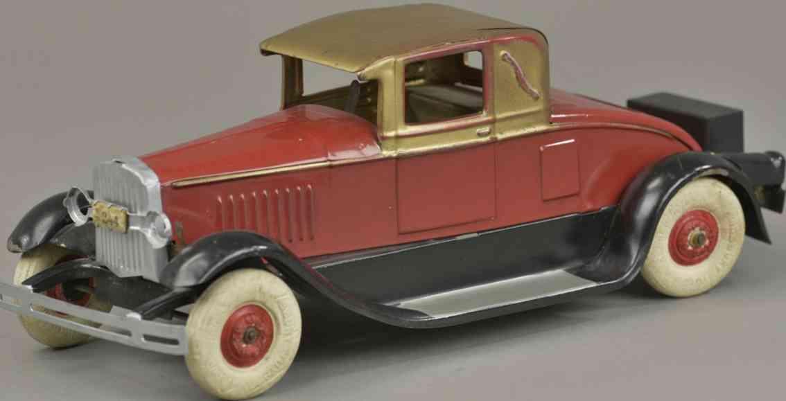 kingsbury toysstahlblech spielzeug auto coupe notsitz 244 rot gold
