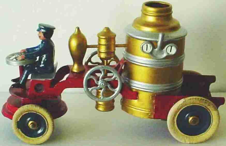 kingsbury toys blech tankloeschfahrzeug