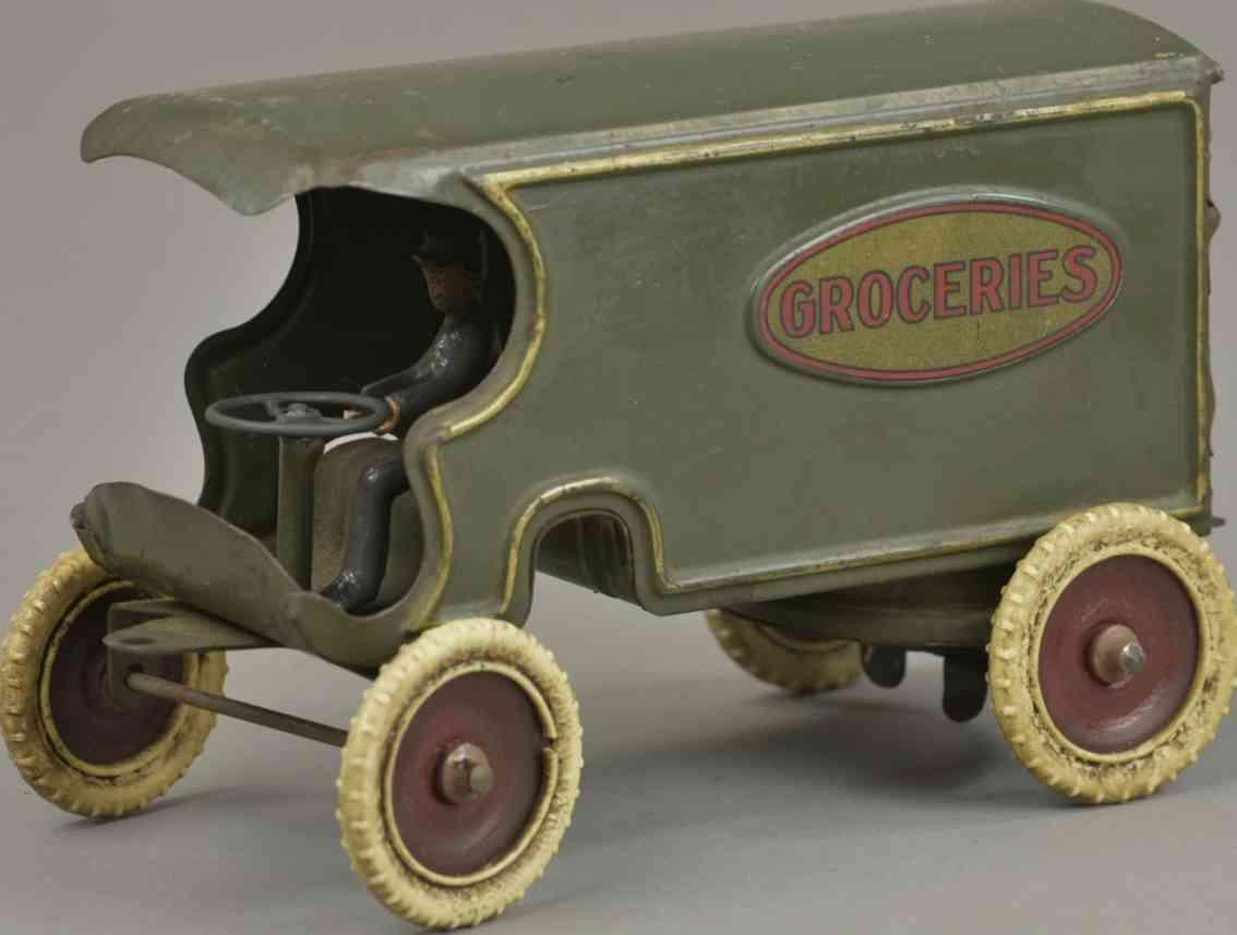 kingsbury toys stahlblech spielzeug lieferwagen für lebensmittel gruen groceries
