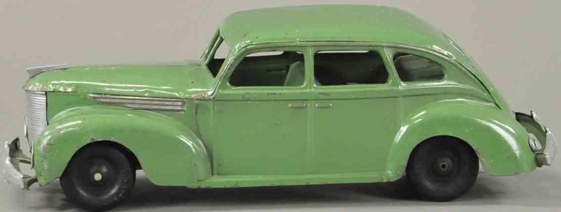 kingsbury toys oldtimer lincoln zephyr green