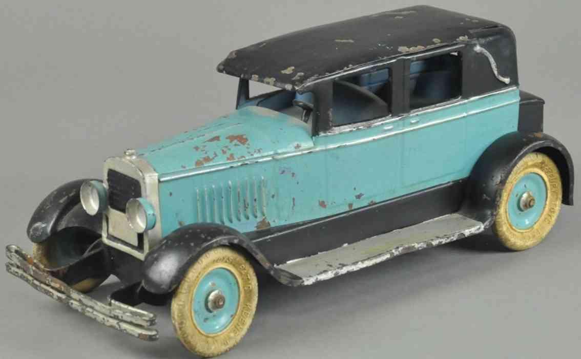 kingsbury toys spielzeug auto stahlblech blau schwarz
