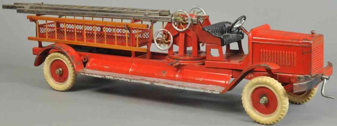 kingsbury toys spielzeug feuerwehrleiterwagen stahlblech